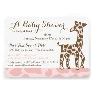 La jirafa rosada mancha la fiesta de bienvenida al comunicado personalizado