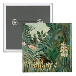 La Jungle ecuatorial, 1909 (aceite en lona) Chapa Cuadrada 5 Cm