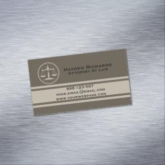 La justicia del abogado escala al abogado tarjeta de visita magnética