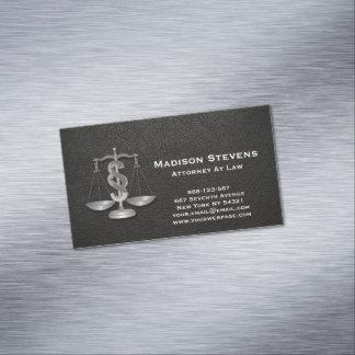 La justicia del abogado escala el cuero del tarjetas de visita magnéticas