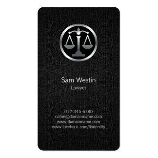 La justicia del abogado escala la tarjeta de tarjetas de visita