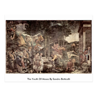 La juventud de Moses de Sandro Botticelli Postal