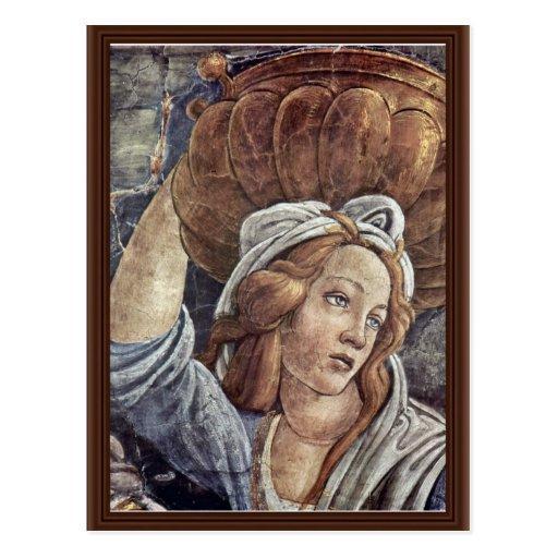 La juventud de Moses, detalle de Botticelli Sandro Postal