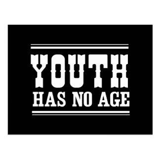 La juventud no tiene ninguna edad tarjeta postal