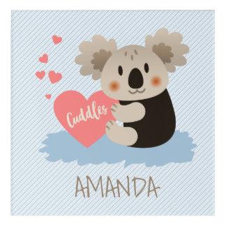 La koala linda abraza ID386 Impresión Acrílica