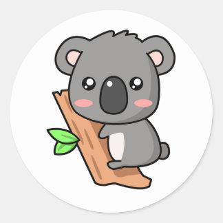 Koala Animado Pegatinas koalas del dibujo animado - adhesivos zazzle ...