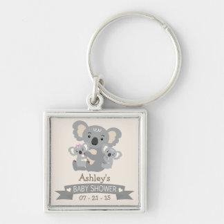 La koala linda hermana la fiesta de bienvenida al llaveros personalizados