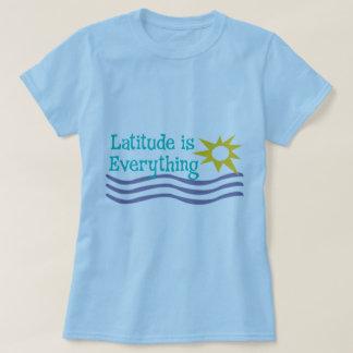 La latitud es todo camisa de la playa