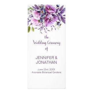 Tarjeta Publicitaria La lavanda púrpura violeta florece programa del