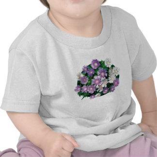 La lavanda y el blanco alimenta a niños de los ast camisetas