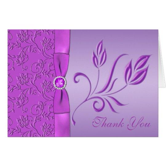La lavanda y la púrpura Jewelled le agradecen Tarjeta De Felicitación