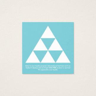 la lealtad de la pirámide recompensa el cuadrado tarjeta de visita cuadrada
