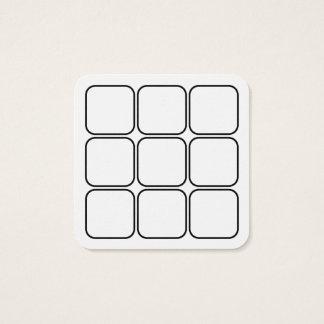 la lealtad del logotipo recompensa el cuadrado tarjeta de visita cuadrada