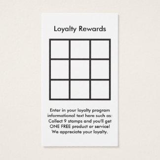 la lealtad del logotipo recompensa la tarjeta