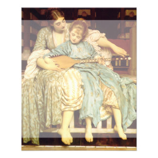 La lección de música de Federico Leighton Folleto 11,4 X 14,2 Cm