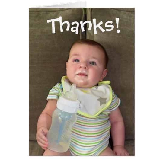 La leche materna le agradece cardar tarjetas
