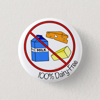 La lechería 100% libera chapa redonda de 2,5 cm
