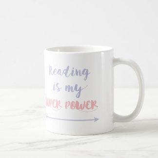 La lectura adaptable es mi superpoder taza de café