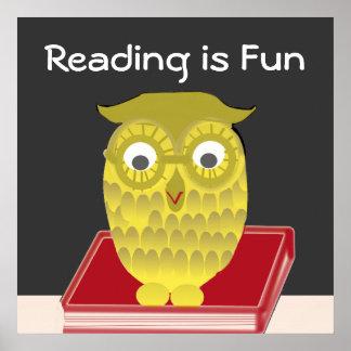 La lectura es diversión póster