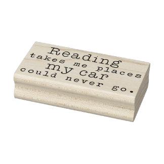 La lectura me toma lugares sello de caucho