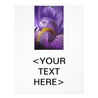 La lengua de los iris tarjetón
