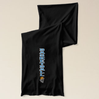 La letra azul el   del baloncesto personaliza bufanda