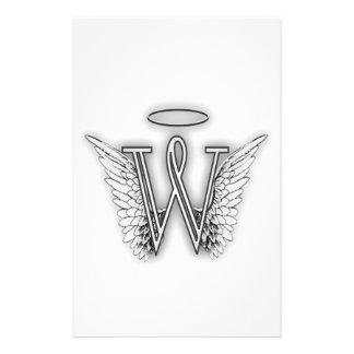La letra inicial del alfabeto B del ángel se va Papeleria