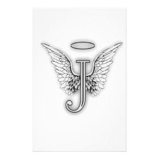 La letra inicial del alfabeto J del ángel se va Papeleria De Diseño