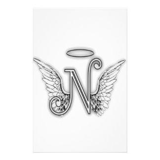 La letra inicial del alfabeto O del ángel se va Papelería Personalizada