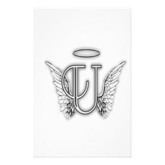 La letra inicial del alfabeto U del ángel se va Papeleria