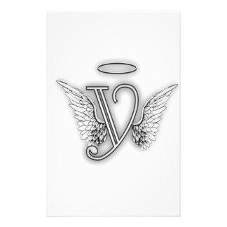 La letra inicial del alfabeto Y del ángel se va Papeleria De Diseño