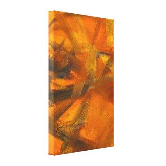 La letra un texto basó la pintura abstracta lienzo envuelto para galerías