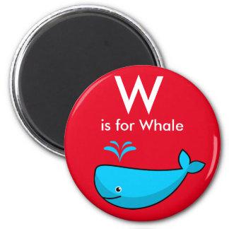 """La """"letra W"""" está para el imán de los niños de la"""