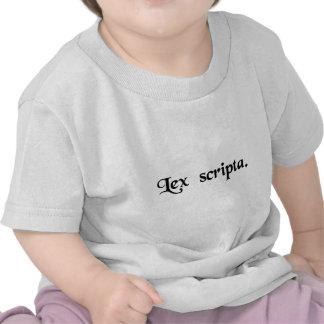 La ley escrita camisetas