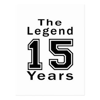 La leyenda 15 años de regalos de cumpleaños