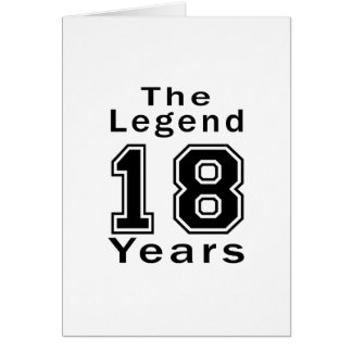 La leyenda 18 años de regalos de cumpleaños tarjeta