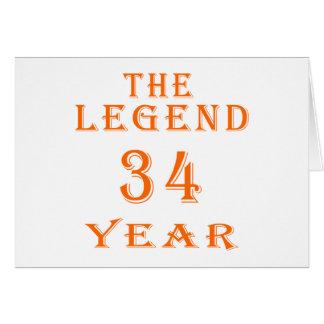 La leyenda 34 años tarjeton