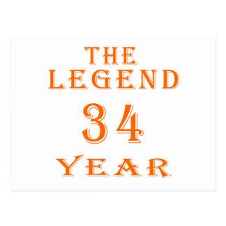 La leyenda 34 años postales