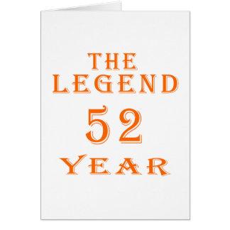 La leyenda 52 años felicitaciones