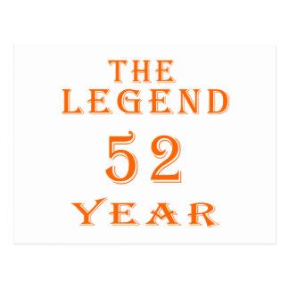 La leyenda 52 años postales