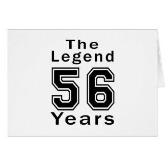 La leyenda 56 años de regalos de cumpleaños