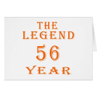 La leyenda 56 años felicitaciones