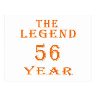 La leyenda 56 años tarjetas postales