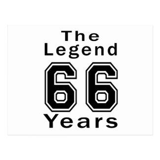 La leyenda 66 años de regalos de cumpleaños