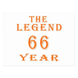 La leyenda 66 años postal
