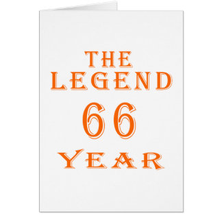 La leyenda 66 años tarjetón