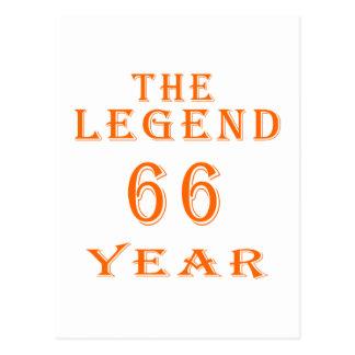 La leyenda 66 años postales