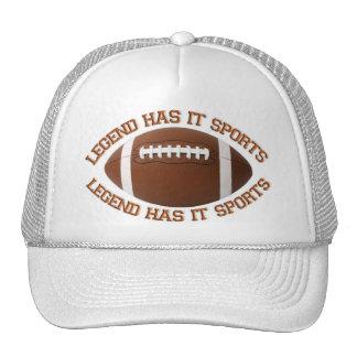 La leyenda lo tiene se divierte el gorra del fútbo