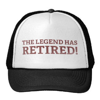 La leyenda se ha retirado gorra
