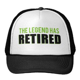 La leyenda se ha retirado gorros bordados